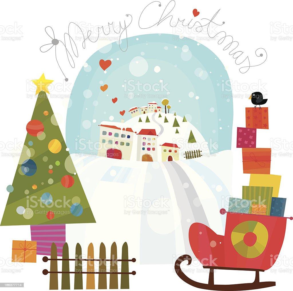 Merry Christmas Greeting royalty-free stock vector art