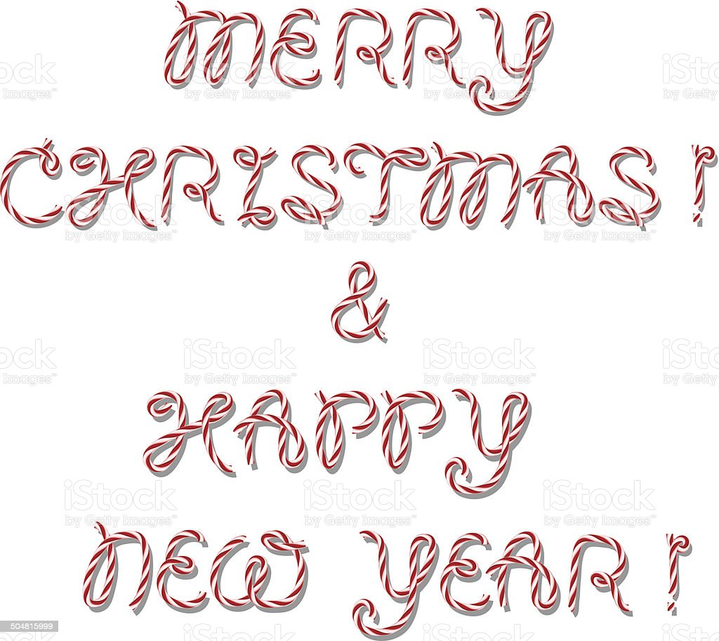 Merry Christmas greeting vector art illustration