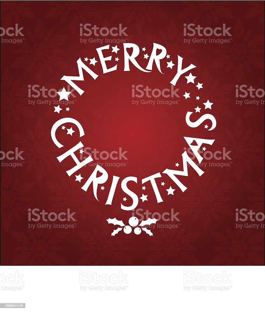 Merry Christmas greeting wreath royalty-free stock vector art