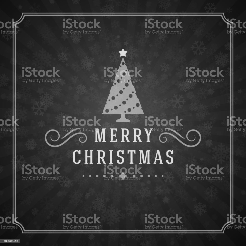 Merry Christmas Greetings Card or Poster Design vector art illustration