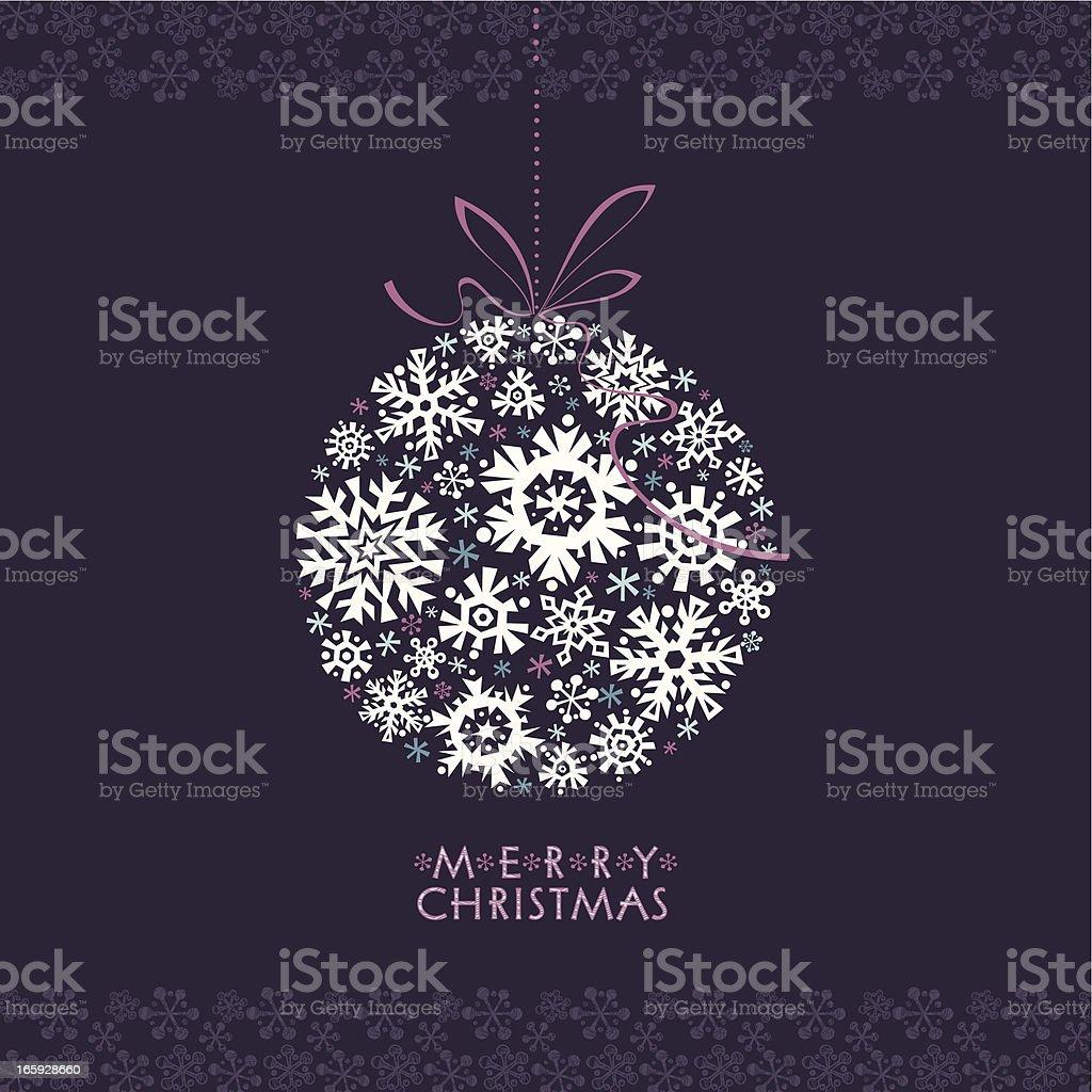 Merry Christmas Greetings Card royalty-free stock vector art
