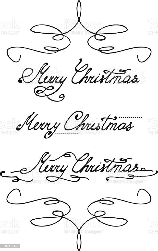 'Merry Christmas' hand lettering royalty-free stock vector art