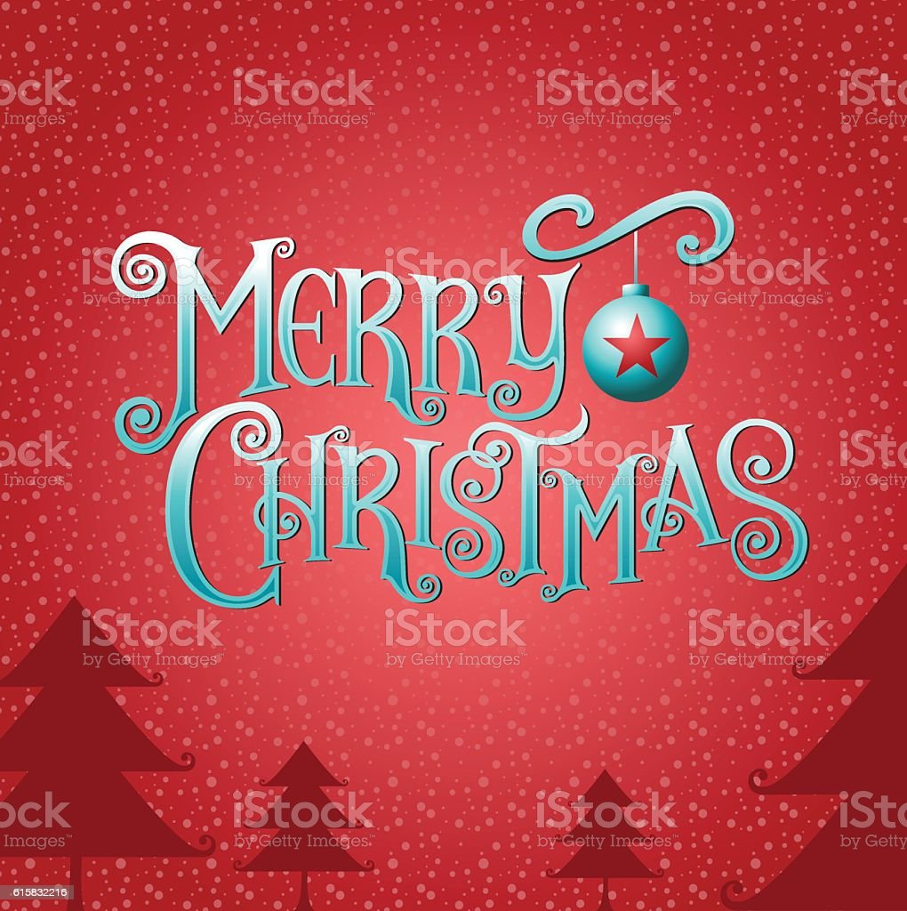 merry christmas & happy new year, Type, background & texture vector art illustration