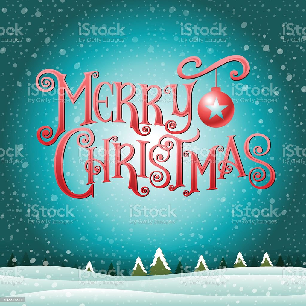 merry christmas& happy new year, Type, background & texture vector art illustration
