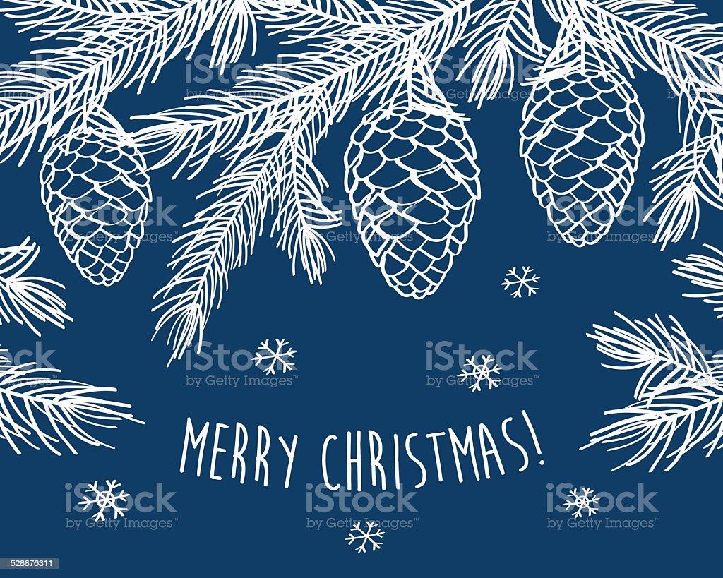 Merry Christmas. Happy New Year. vector art illustration