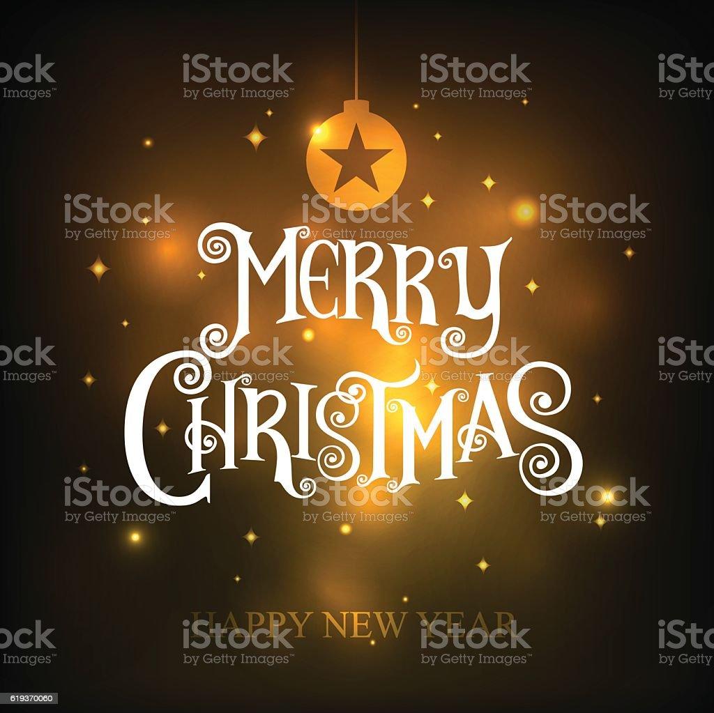 Merry Christmas. happy new year. Vector Illustration. vector art illustration