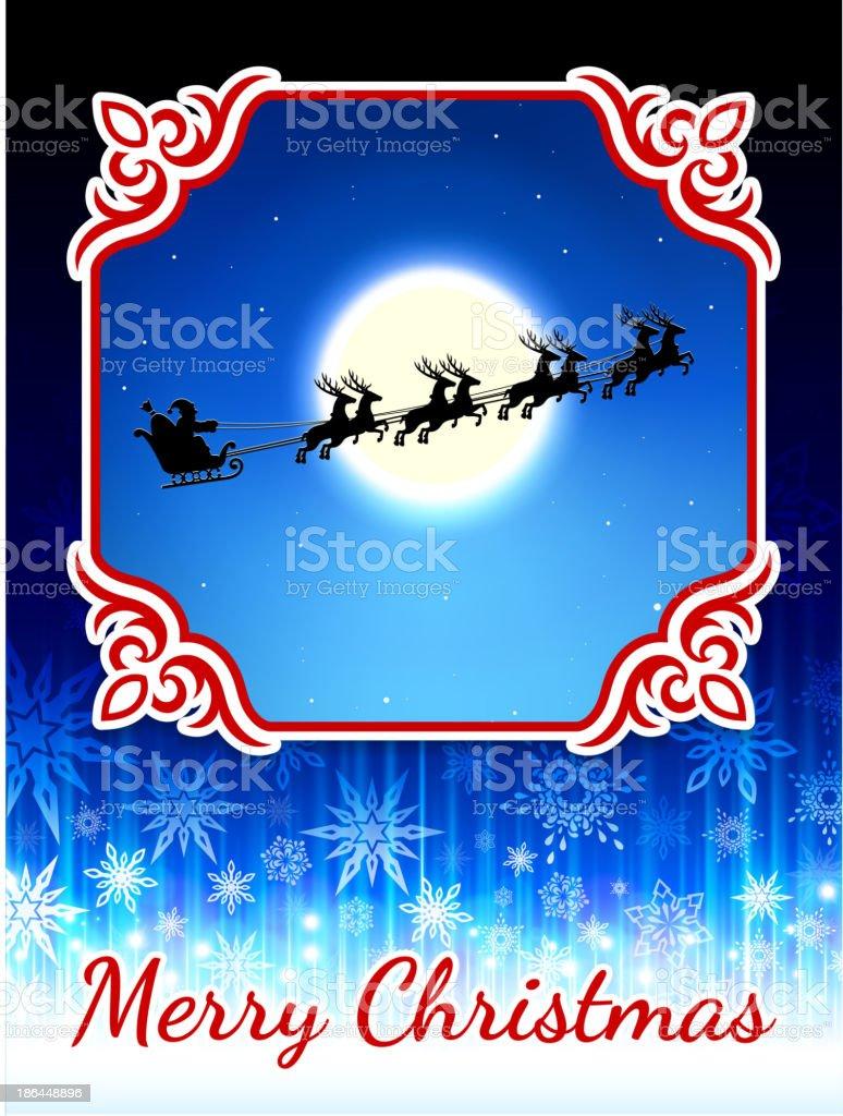 Merry Christmas Holiday Greeting Card royalty-free stock vector art