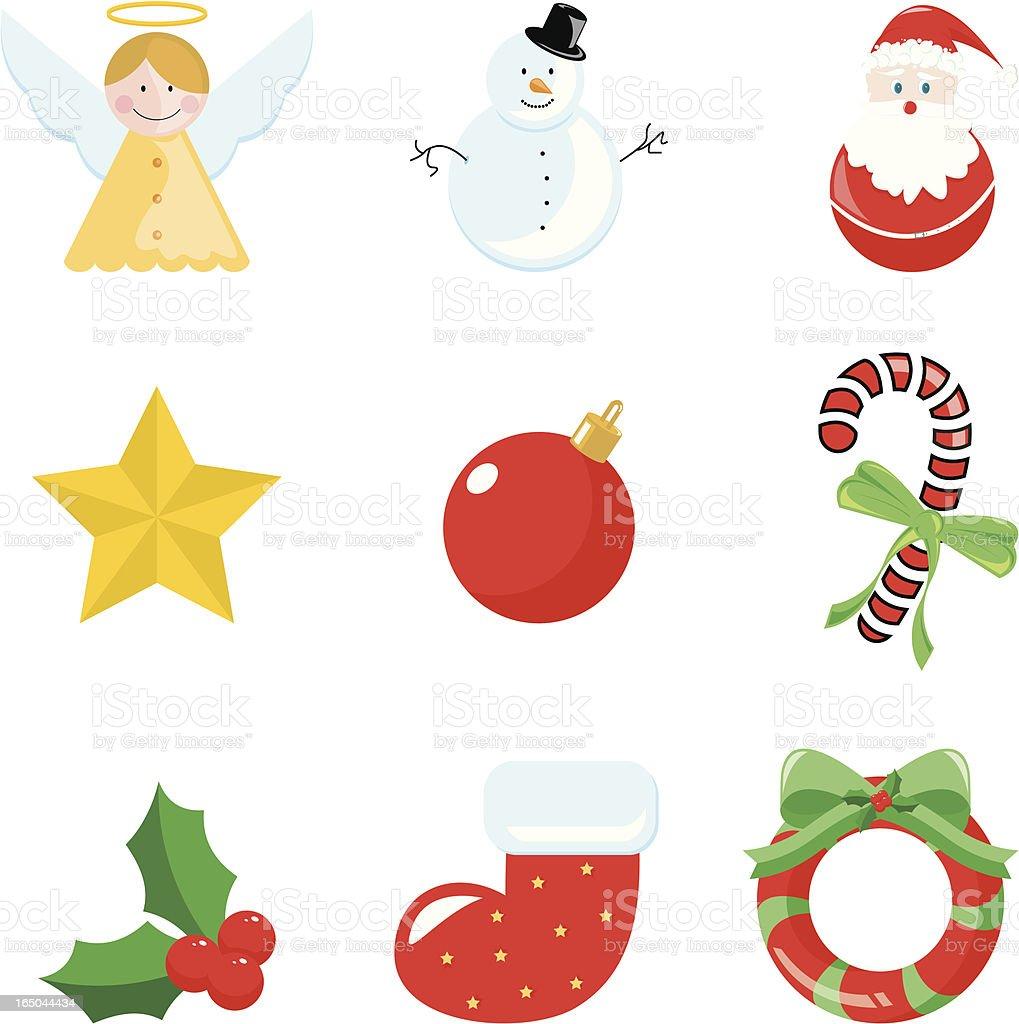 Merry Christmas Icons vector art illustration