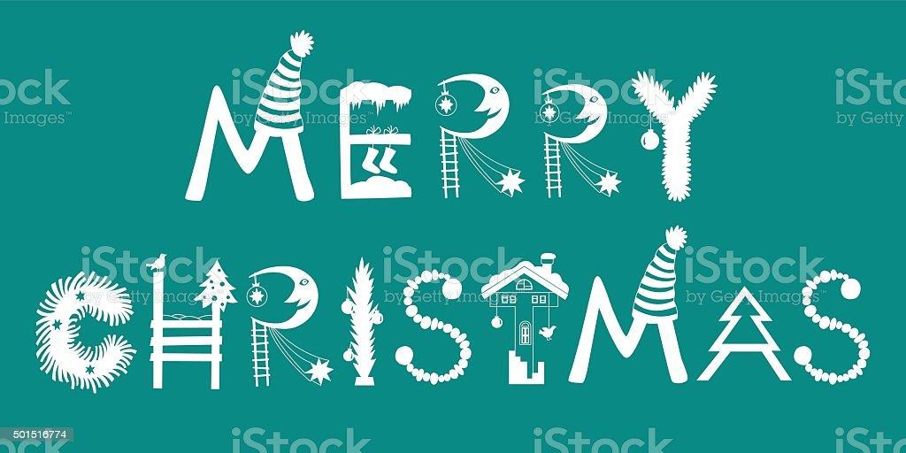 メリークリスマスの状況です。アルファベット正月、クリスマス ロイヤリティフリーのイラスト素材