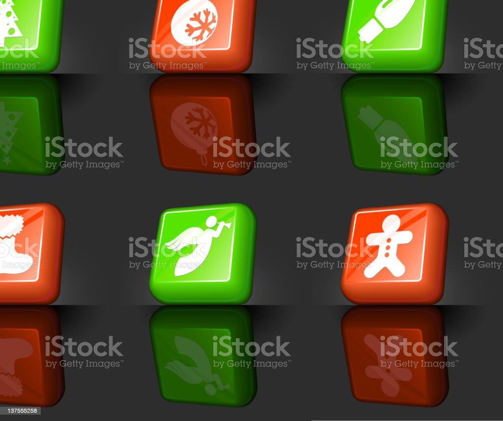Merry Christmas internet royalty free vector icon set royalty-free stock vector art