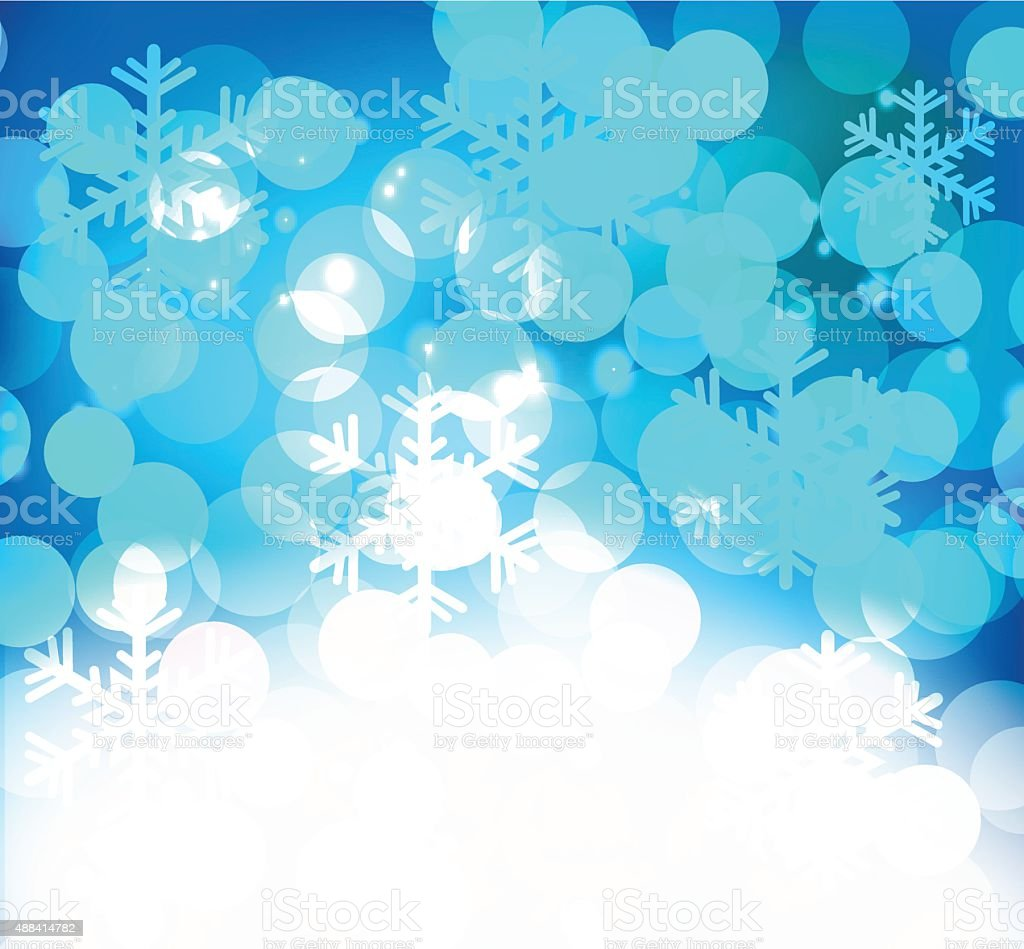 Merry Christmas Landscape. Vector  Happy New Year vector art illustration