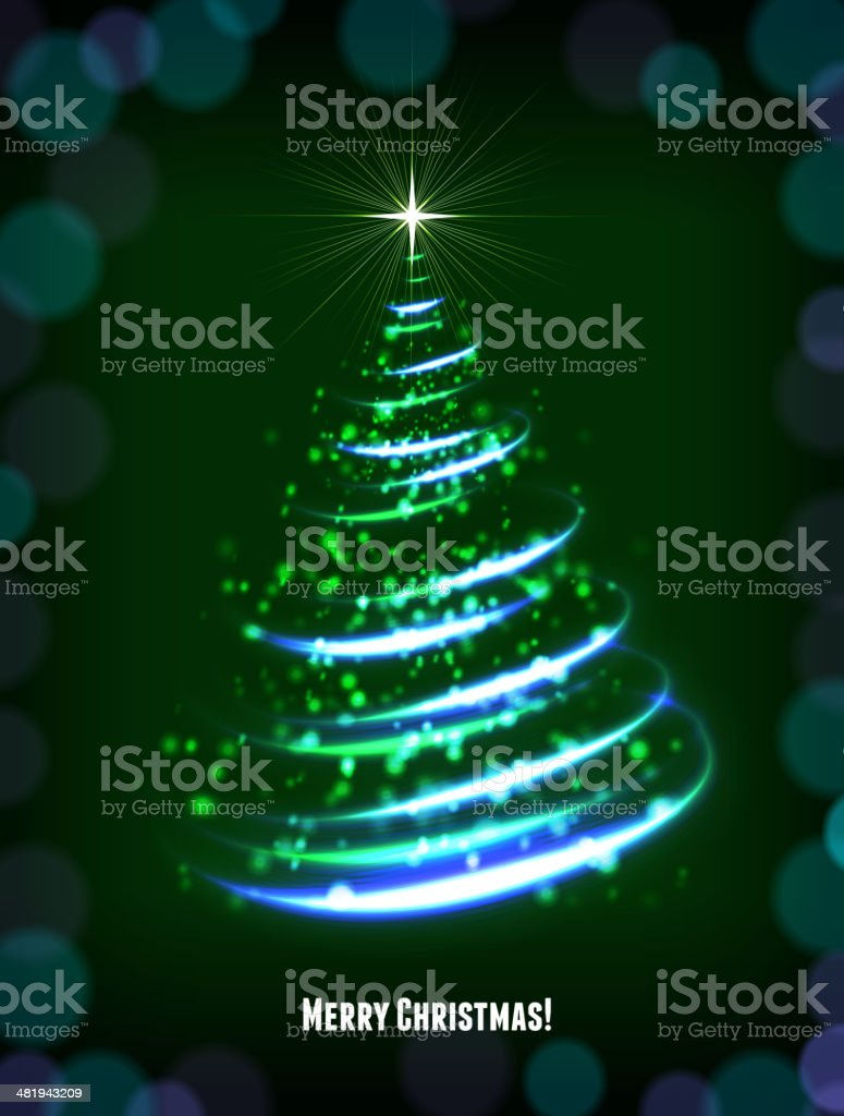Merry Christmas Light Tree royalty-free stock vector art