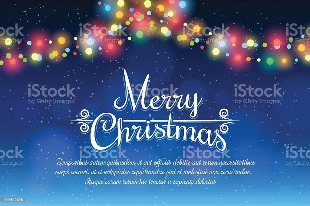 Merry Christmas poster vector art illustration