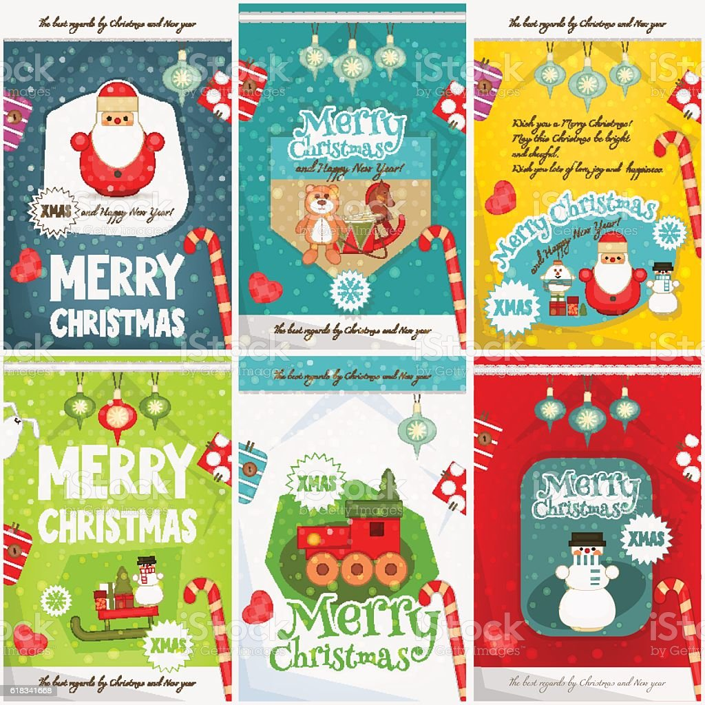 merry christmas posters stock vector art istock 1 credit