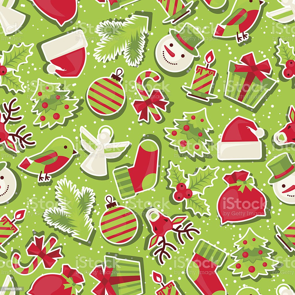 Merry Christmas seamless pattern. royalty-free stock vector art
