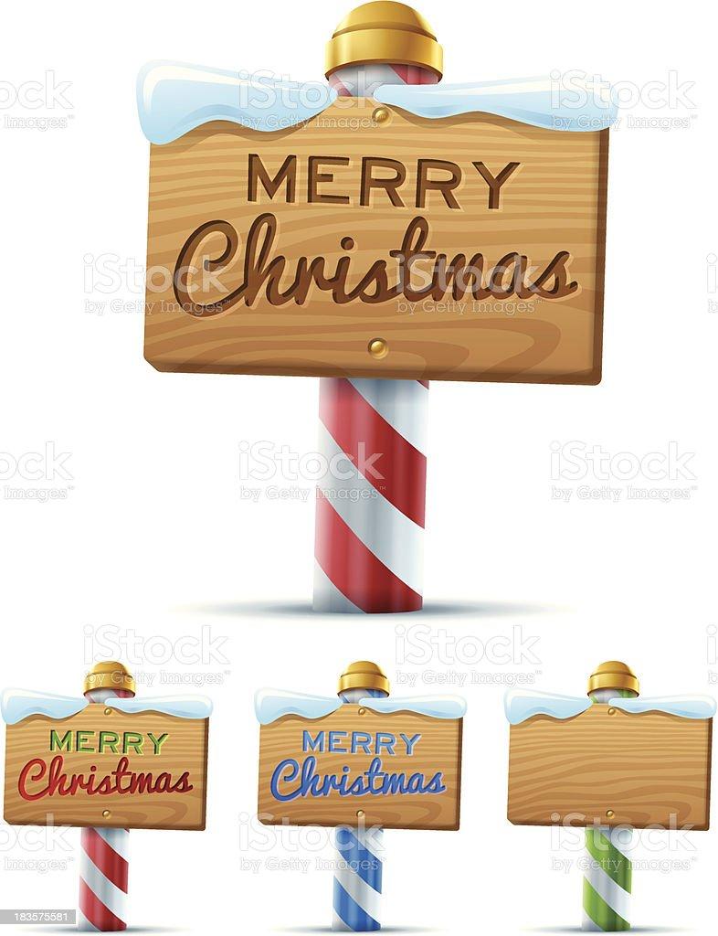Merry Christmas Sign vector art illustration