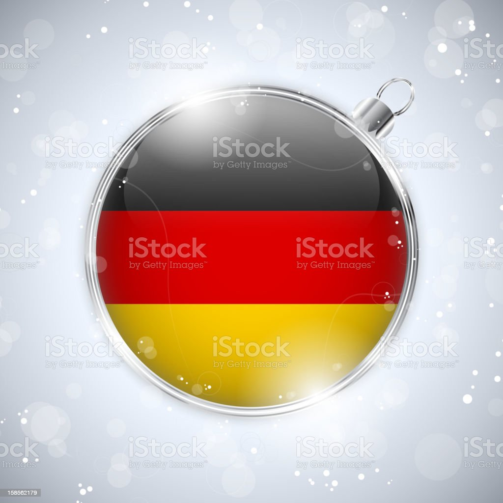 Merry Christmas Silver Ball with Flag Germany royalty-free stock vector art