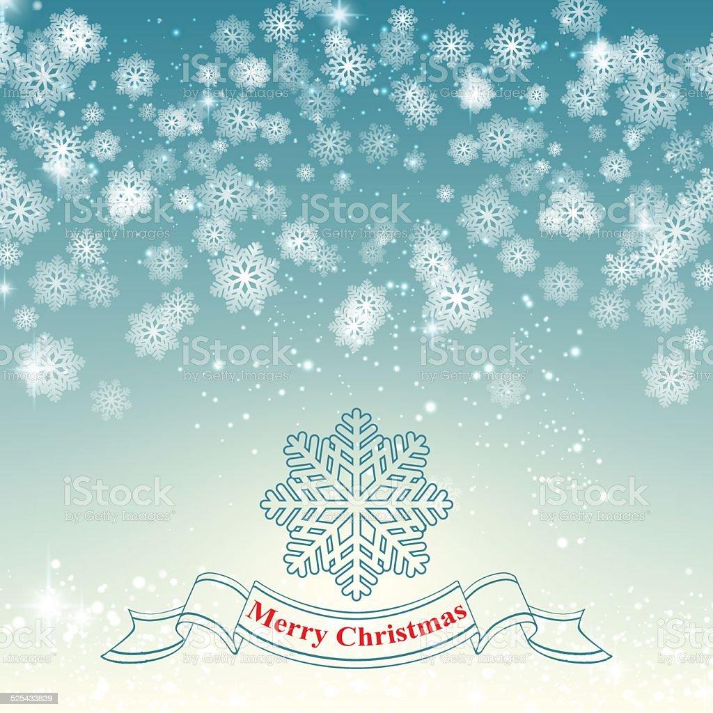 Fundo de Natal floco de neve ilustrações retrô vetor e ilustração royalty-free royalty-free