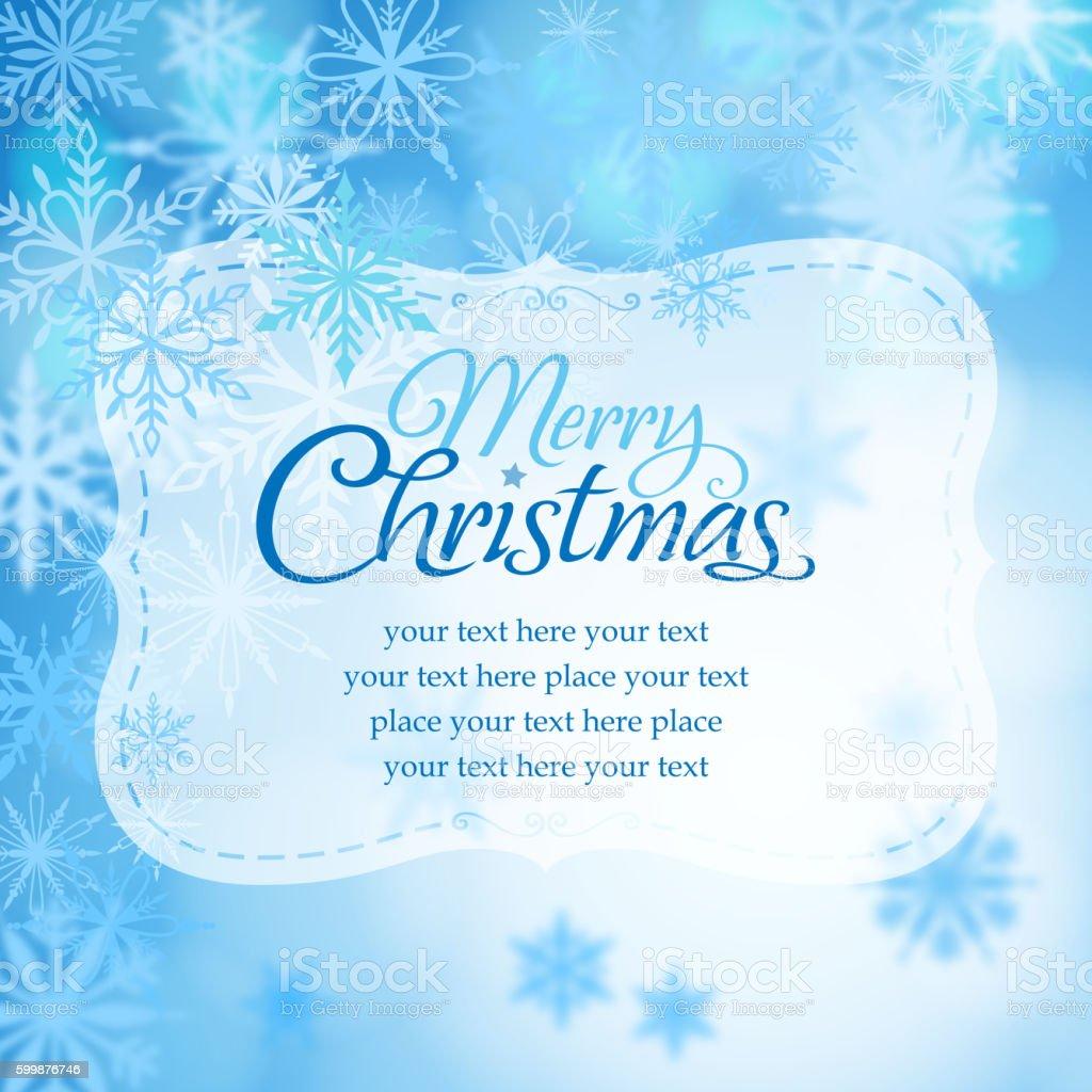 Merry christmas text message vector art illustration