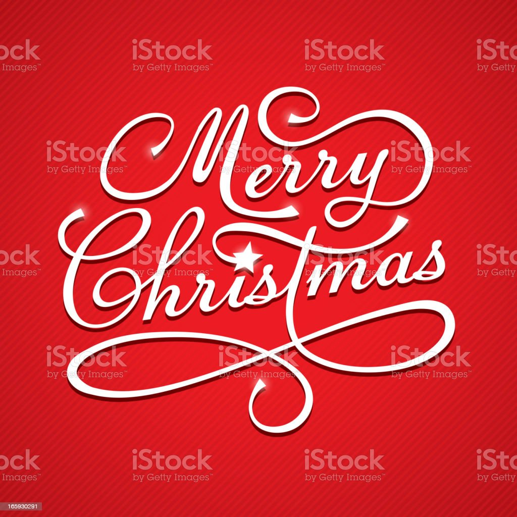 Merry Christmas text royalty-free stock vector art