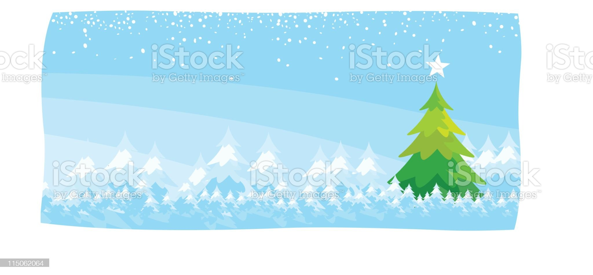 Merry Christmas -Tree royalty-free stock vector art