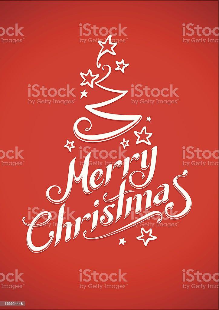 Merry Christmas Tree royalty-free stock vector art