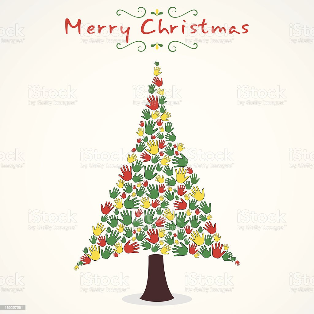 merry christmas tree royalty-free stock vector art