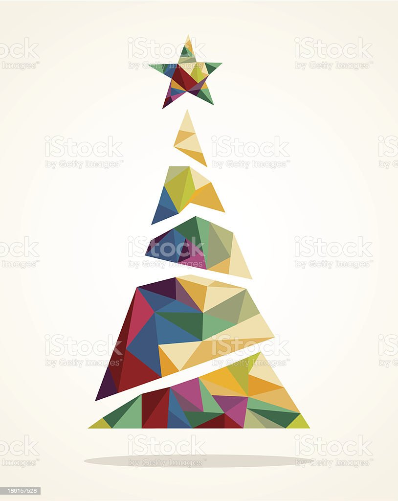 Merry Christmas trendy abstract tree EPS10 file. vector art illustration