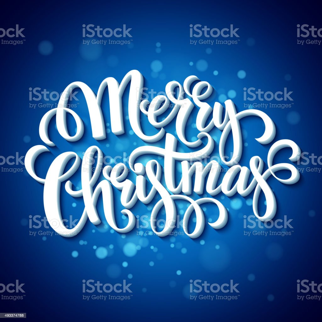 Merry Christmas typography. Vector illustration vector art illustration