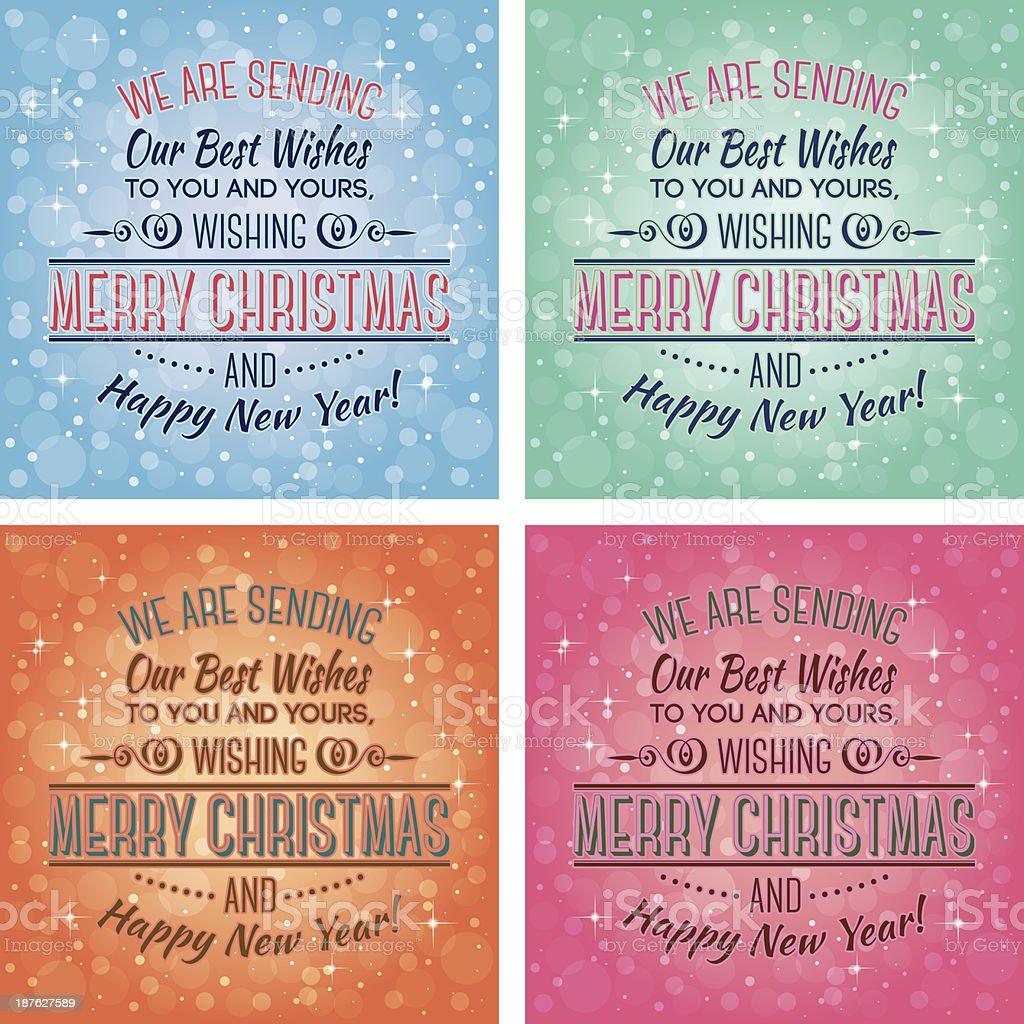 merry christmas royalty-free stock vector art