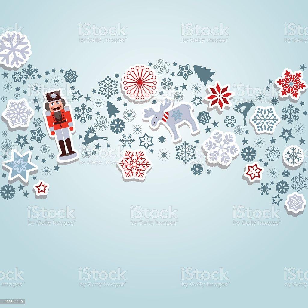 Merry Christmas vector art illustration