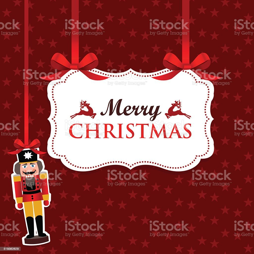 Merry Christmas vector art illustration