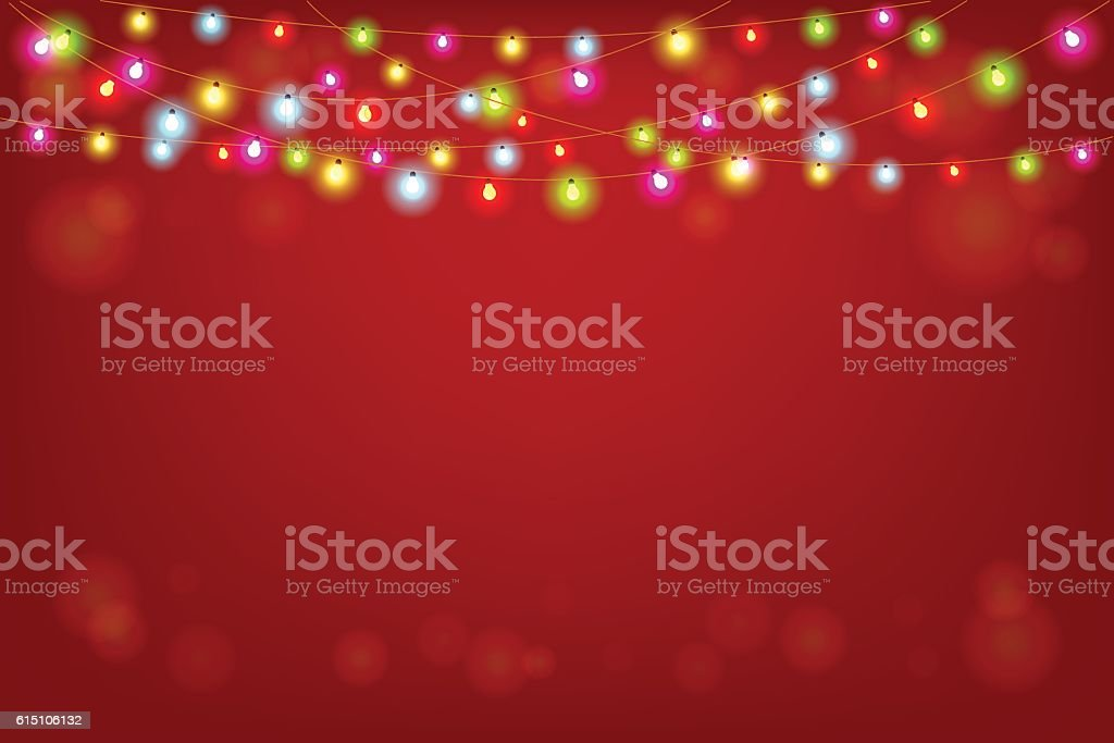 Merry Christmas vector illustration with copy space vector art illustration