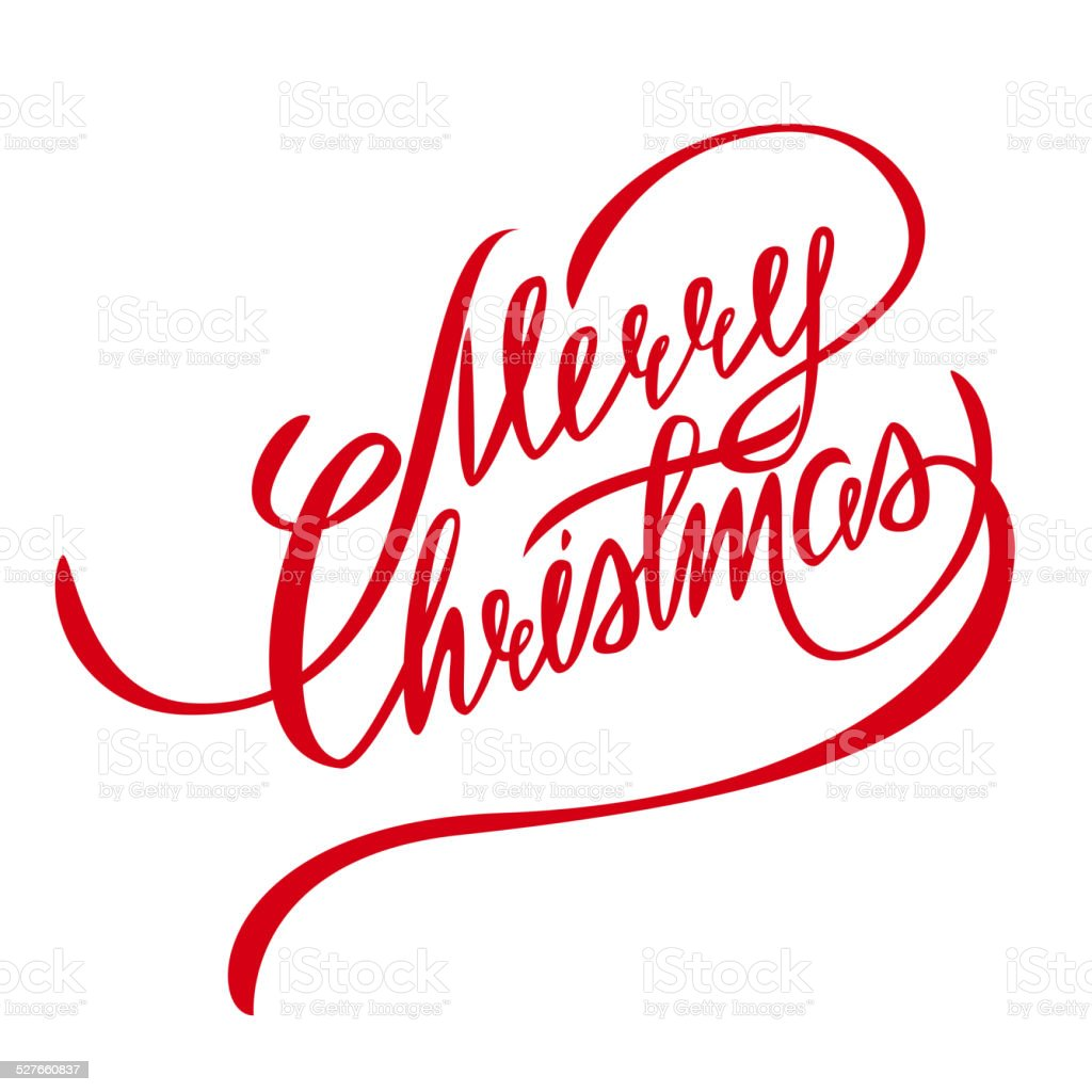 Merry Christmas Vector Lettering - Design Element vector art illustration