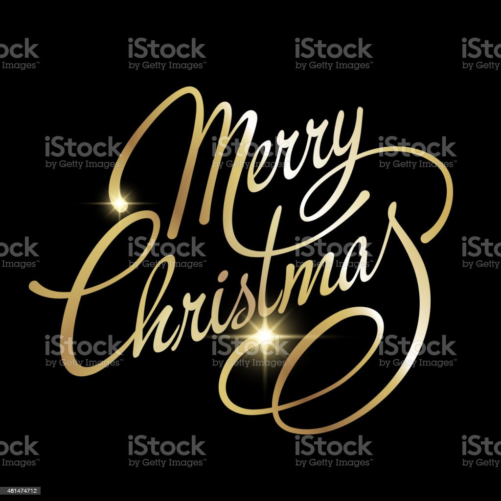 Merry Christmas Vector Lettering vector art illustration