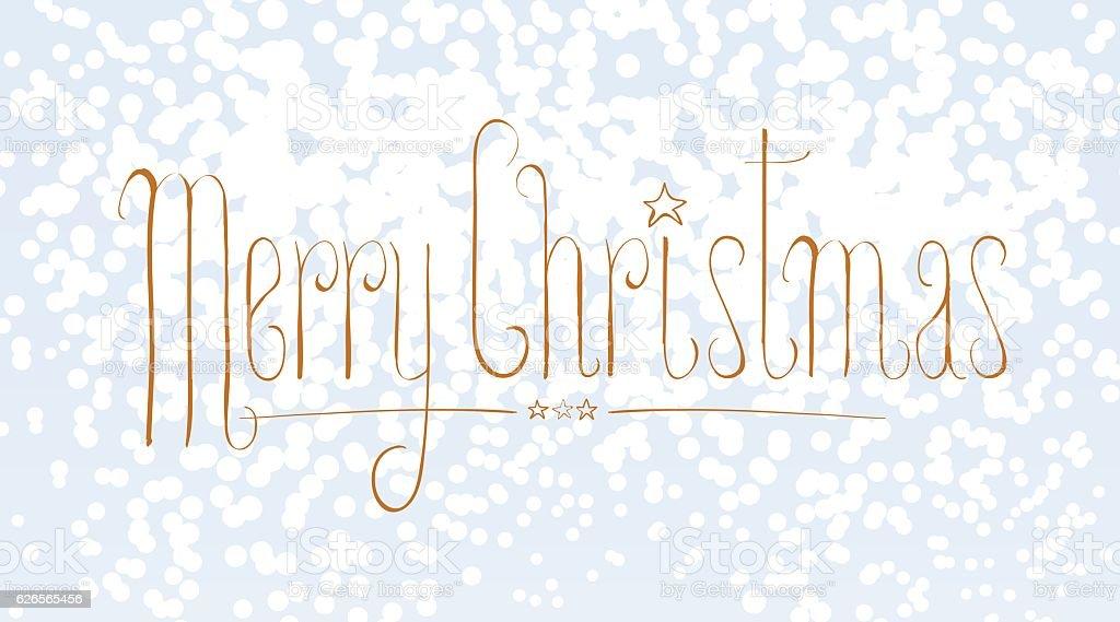 Merry Christmas vector seasonal design element with snow flakes vector art illustration
