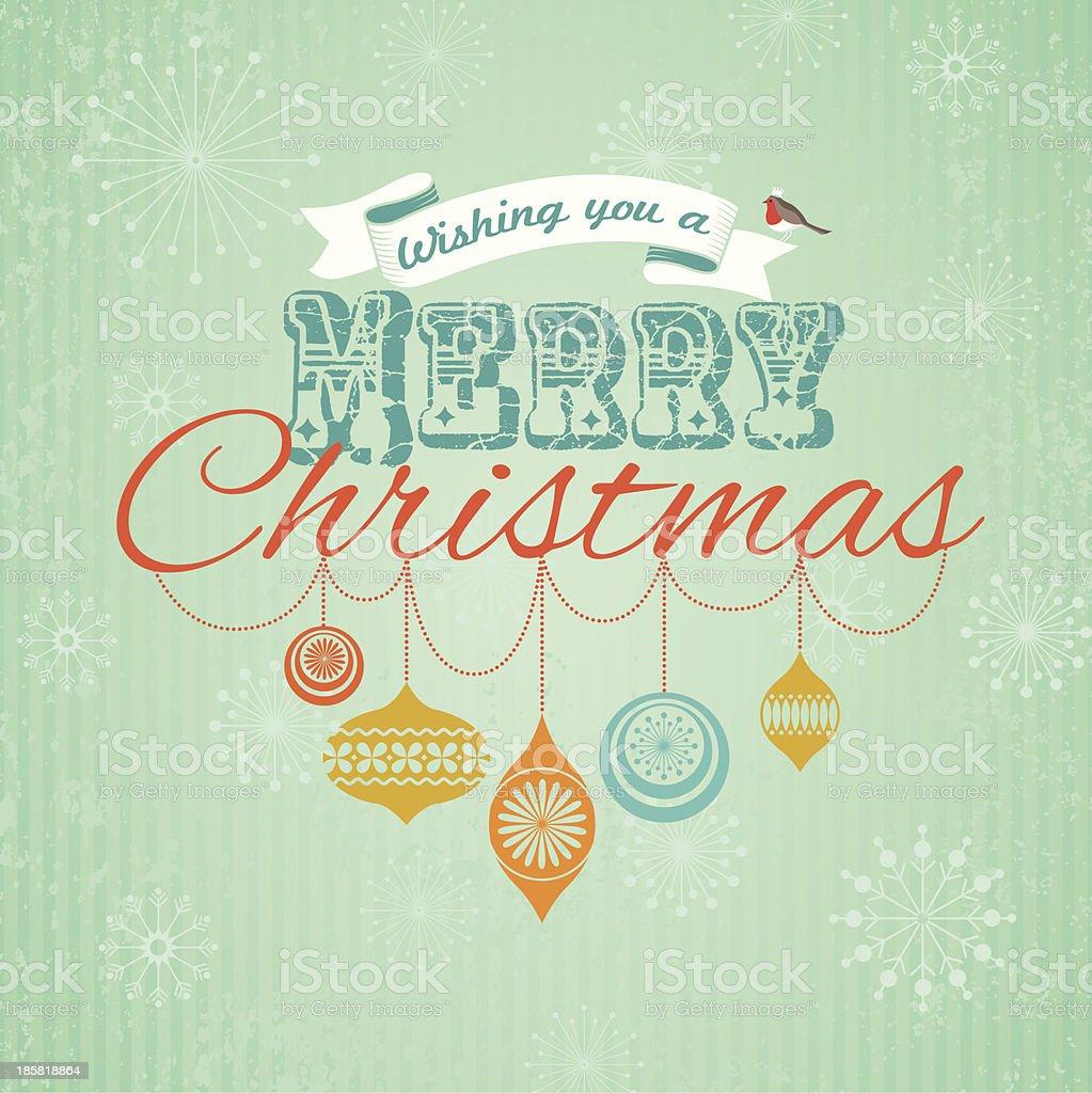 Merry Christmas vintage royalty-free stock vector art