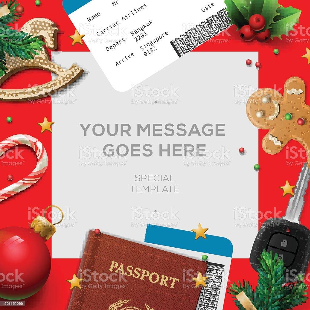 Merry Christmas wish list, letter for Santa Claus vector art illustration