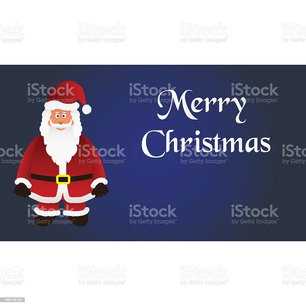 mery christmas with cartoon Santa Claus with red outfit eps10 vector art illustration