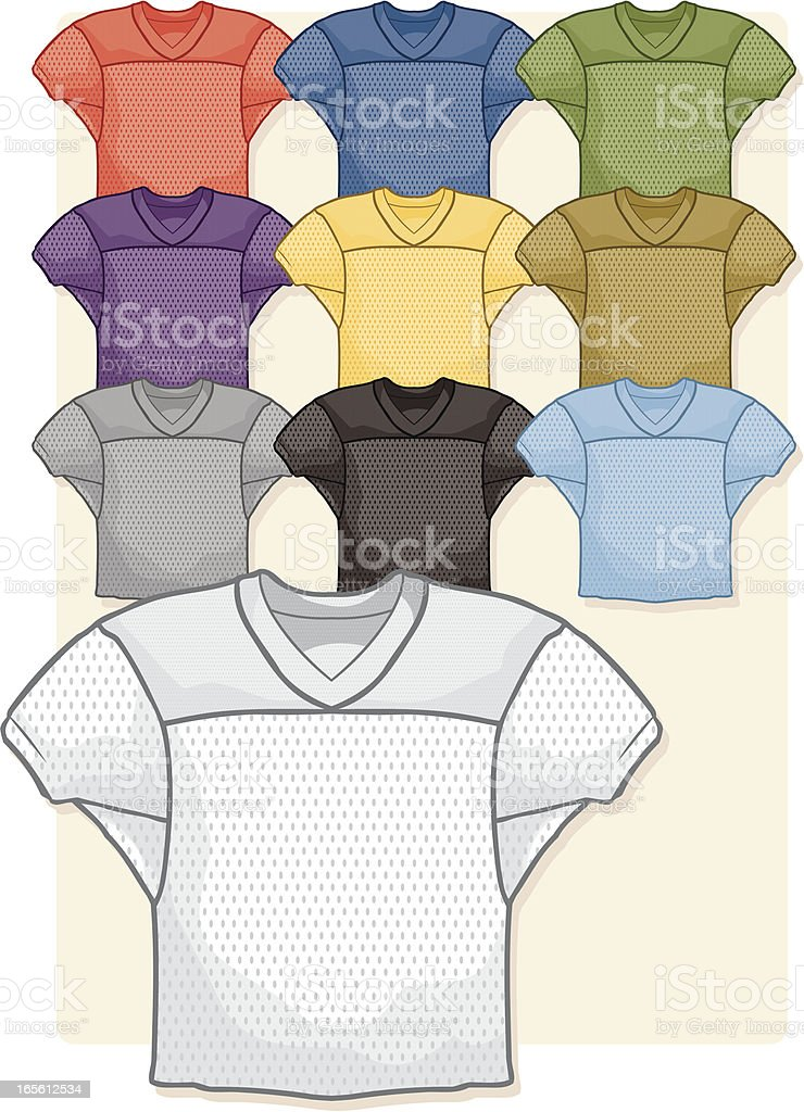 Mesh Practice Jerseys royalty-free stock vector art