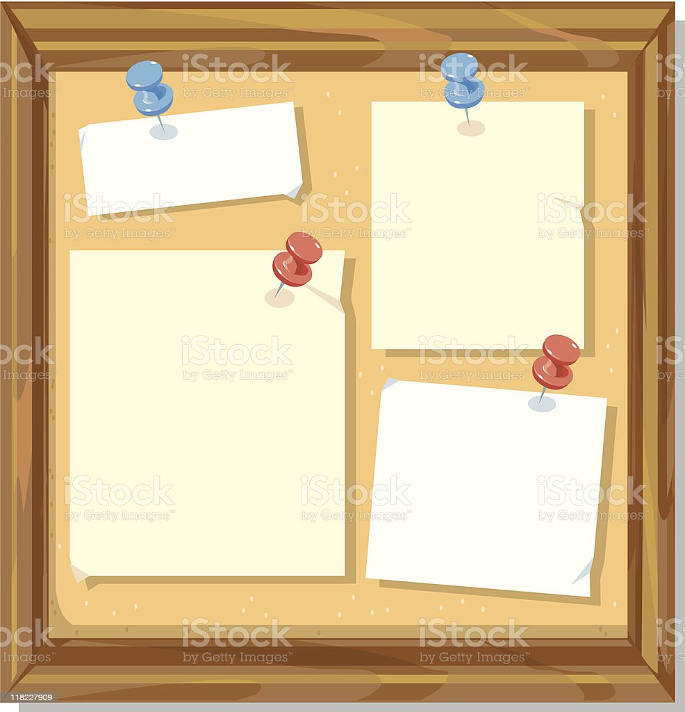 Message board royalty-free stock vector art