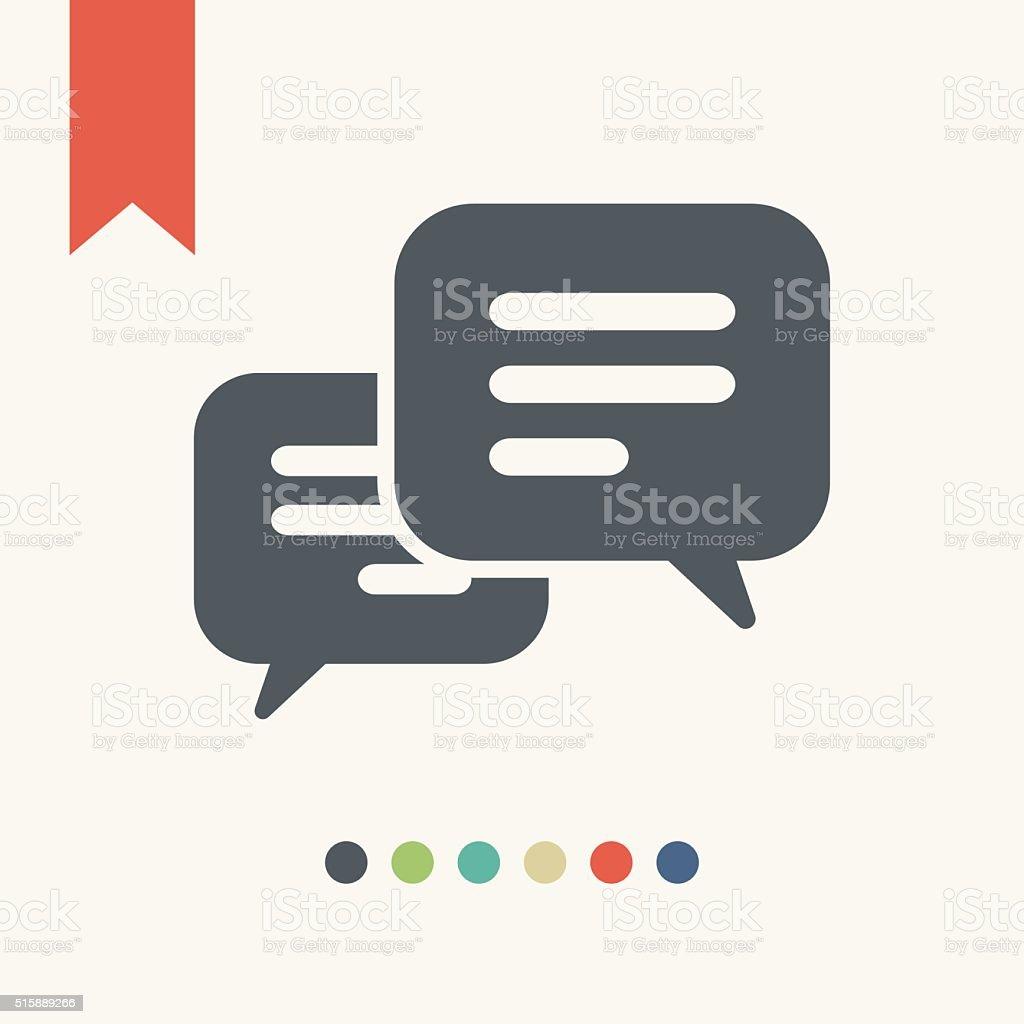 Message Bubbble icon vector art illustration