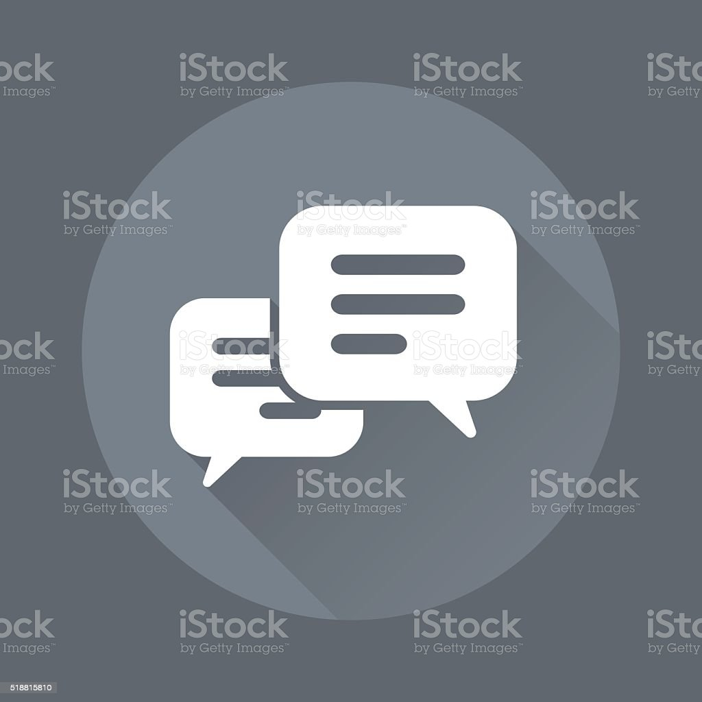 Message Bubbble icon vector art illustration