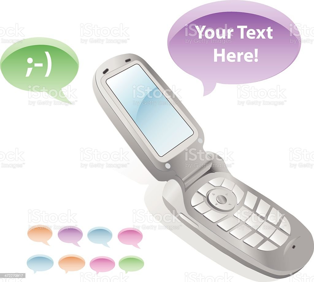 Message Bubble Cell Phone [vector] royalty-free stock vector art