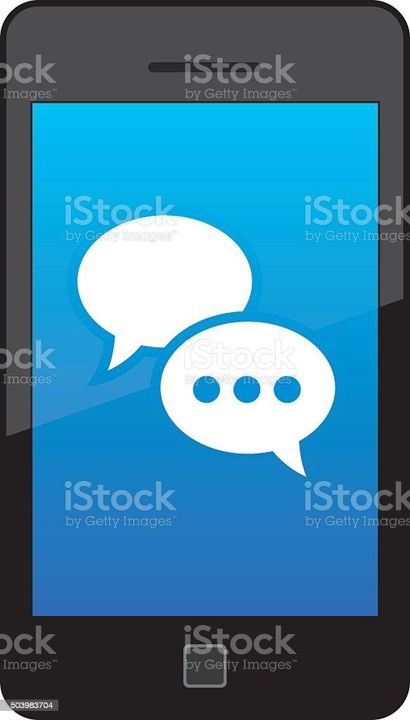 Message Bubbles Smart Phone vector art illustration