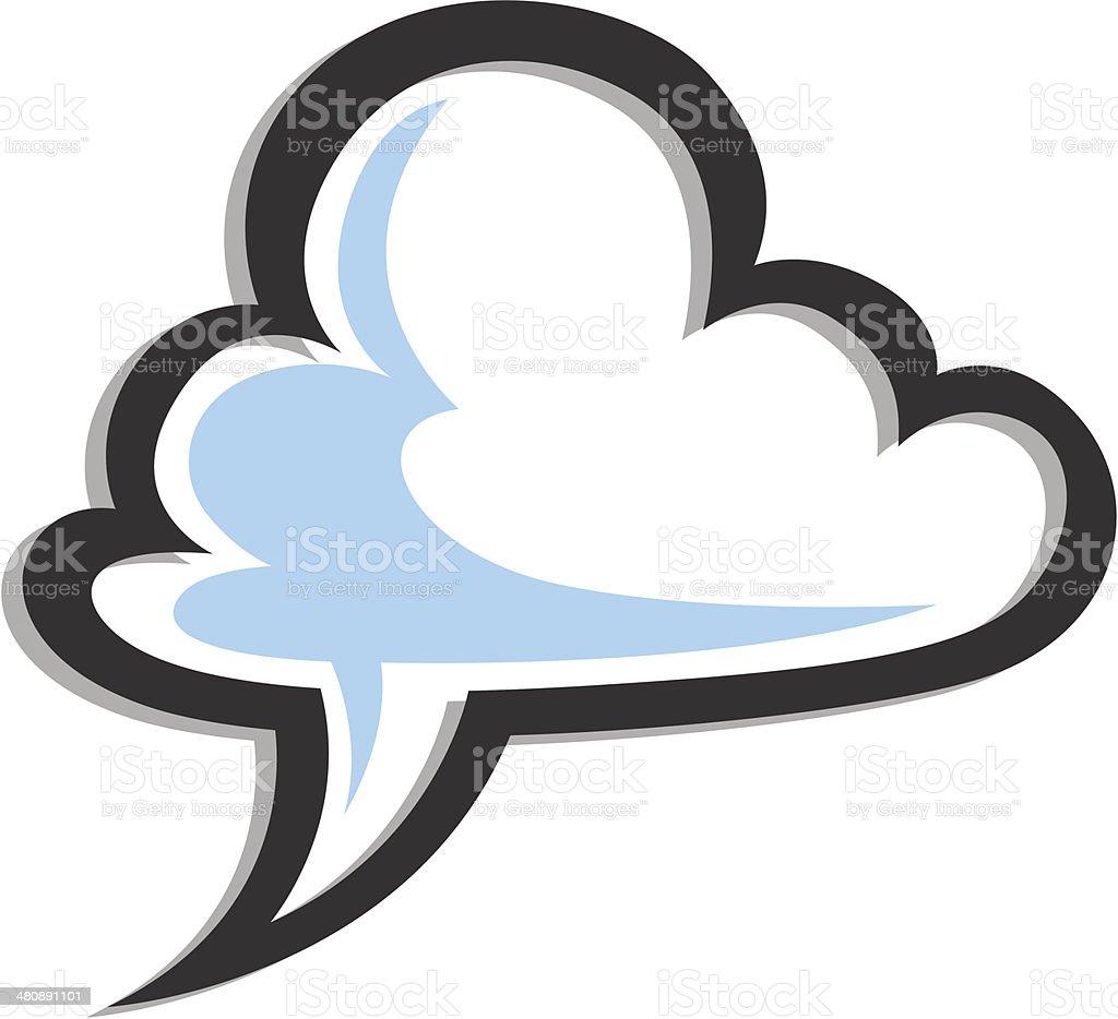 Komunikat w chmurze stockowa ilustracja wektorowa royalty-free