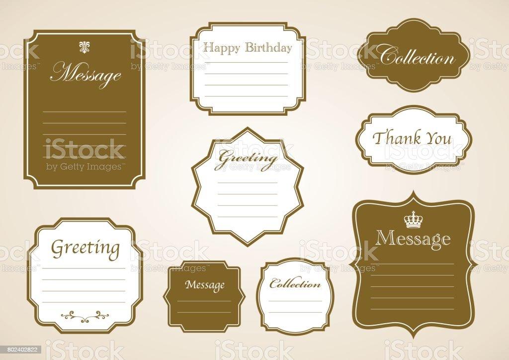 Message frame set, vector vector art illustration