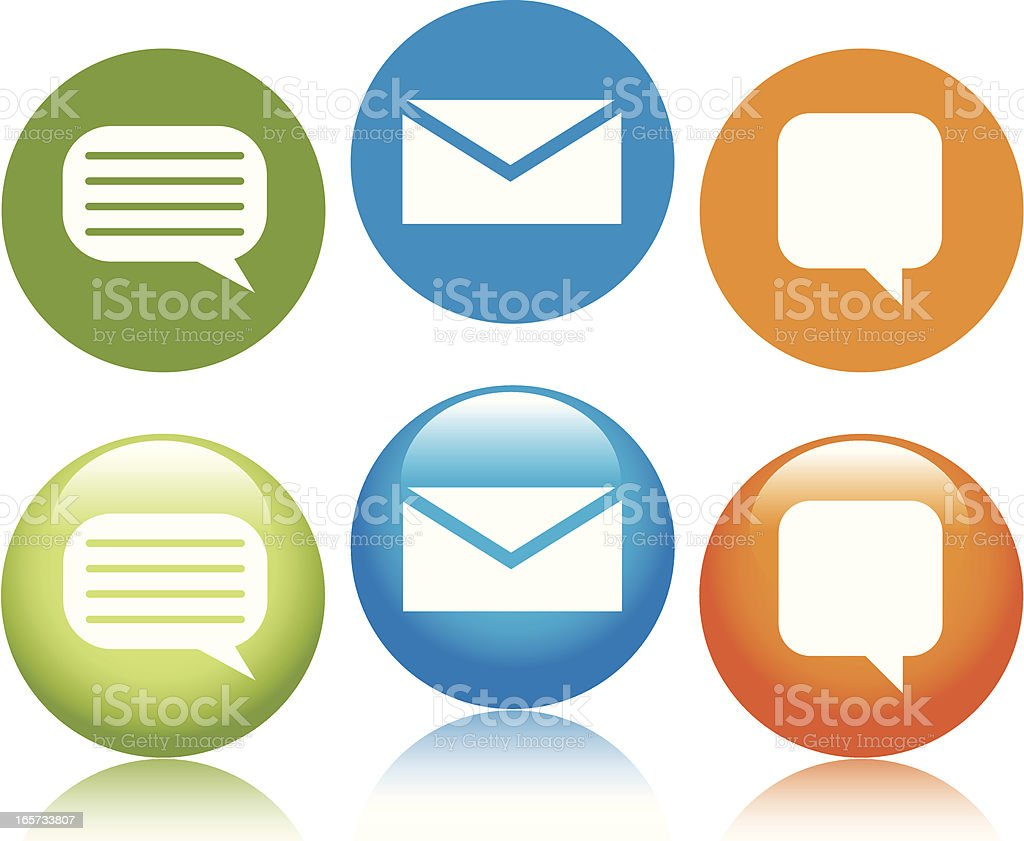 Message Icons royalty-free stock vector art