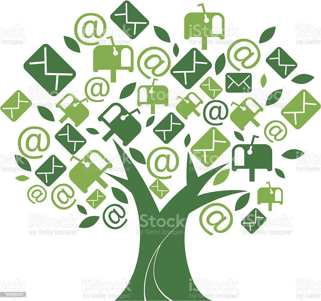 message tree royalty-free stock vector art