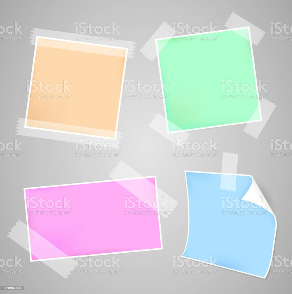 Messages papers set vector art illustration